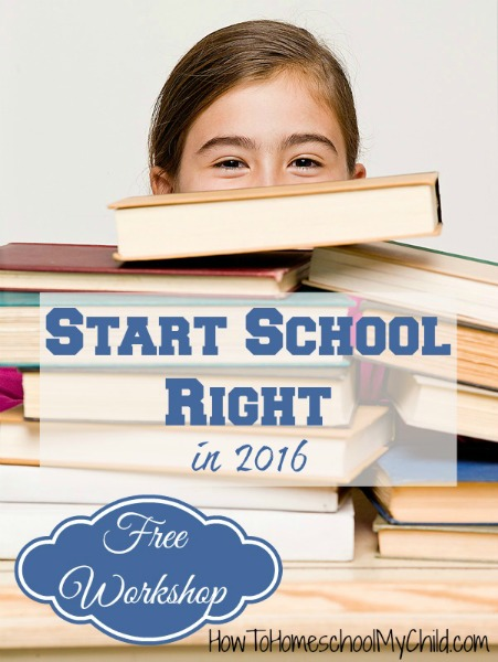 FREE workshop to help homeschoolers start school right from HowToHomeschoolMyChild.com/blog