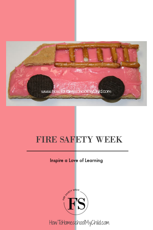 Inspire a love of learning during fire safety week. Make these fun fire truck cookies in your fire safety unit study.