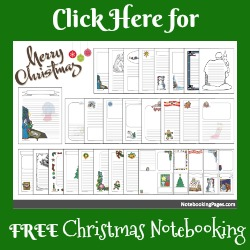 FREE Christmas Notebooking Pages