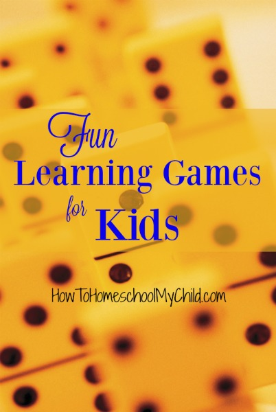 5 Fun Learning Games for Kids from HowToHomeschoolMyChild.com