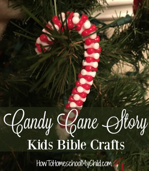 Craft for the Candy Cane story - Kids Bible Crafts from HowToHomeschoolMyChild.com