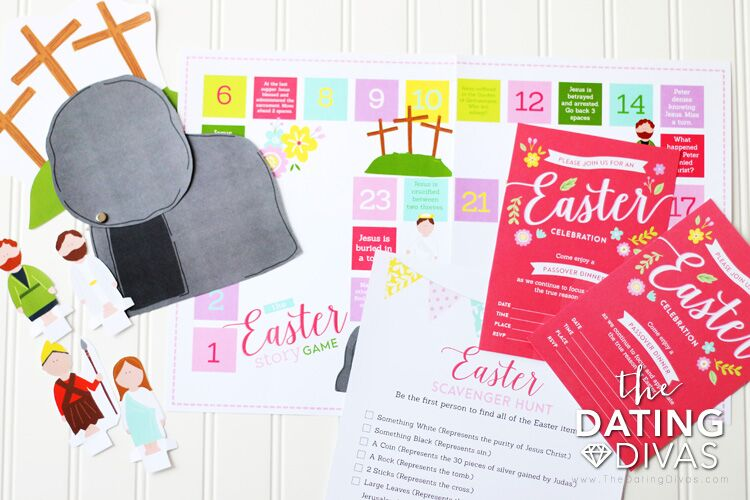 Easter ideas for kids with Christ-Centered Countdown to Easter review...along with Game Board