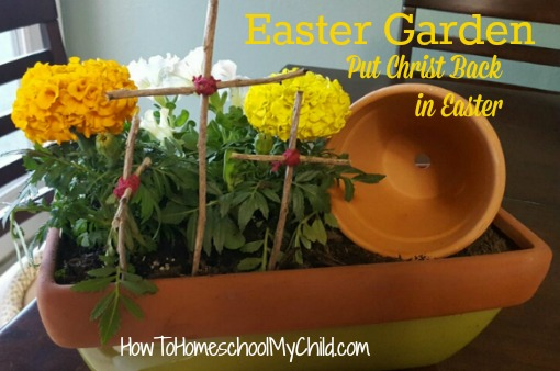 Make an Easter Garden to help put Christ back into Easter