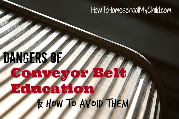 Discover how to avoid the dangers of Conveyor Belt Education and sending your kids to a school like a factory