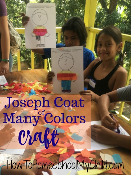 Joseph Coat of Many Colors Craft & Snacks - Fun Bible activities for kids