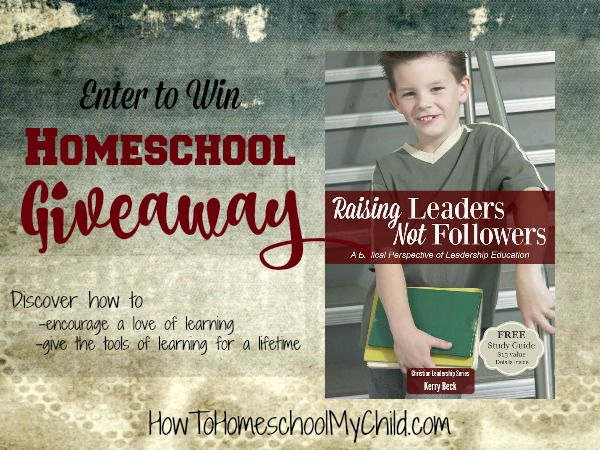 Enter to win our Homeschool Giveaway - 2 paperbacks that show how to develop a love of learning & give the tools of learning for a lifetime