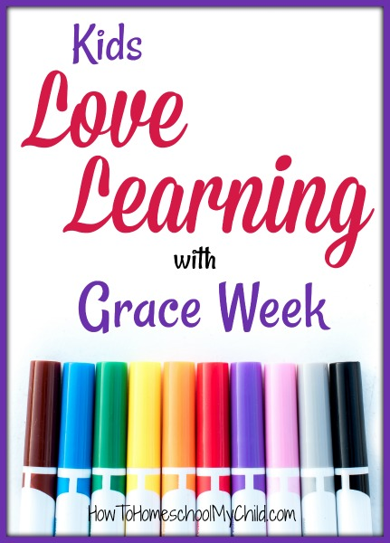 Kids love learning with Grace Week. Find out how you can use Grace Week in your homeschool.