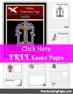 FREE Easter Notebooking Pages