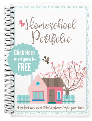 Free Homeschool Portfolio to keep all those precious memories of this school year ... both homeschoolers and non-homeschoolers can use this