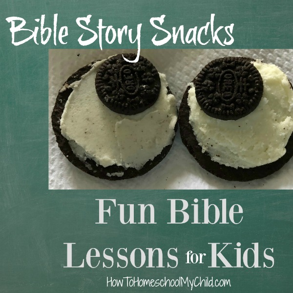 Fun Bible story snacks to make fun Bible lessons for kids. Paul was blinded by light from heaven so you can talk about his eyes being blinded