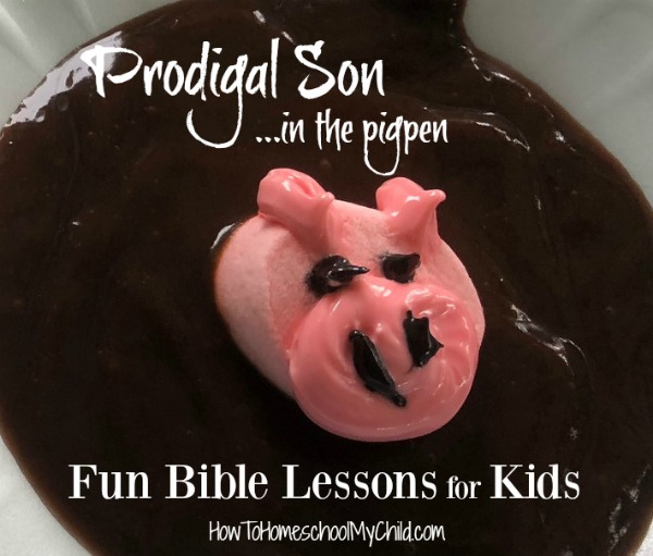 Fun Bible lessons for kids with Bible story snacks like the pig in the Prodigal Son