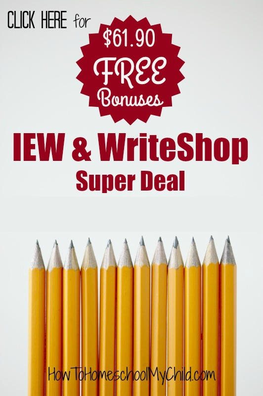 Get Bonus teaching writing homeschool resources with IEW or WriteShop