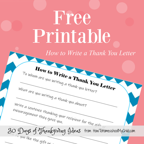 how to write a thank you letter outline