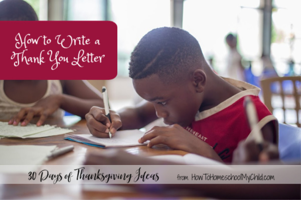how to write a thank you letter, thanksgiving ideas for kids