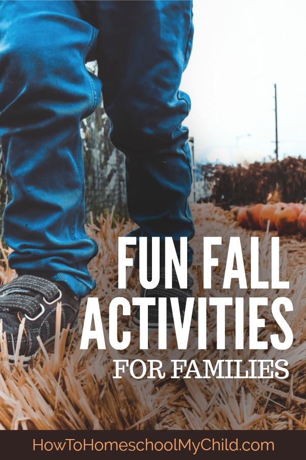 Fun Fall Activities for Preschoolers, Homeschoolers, Families