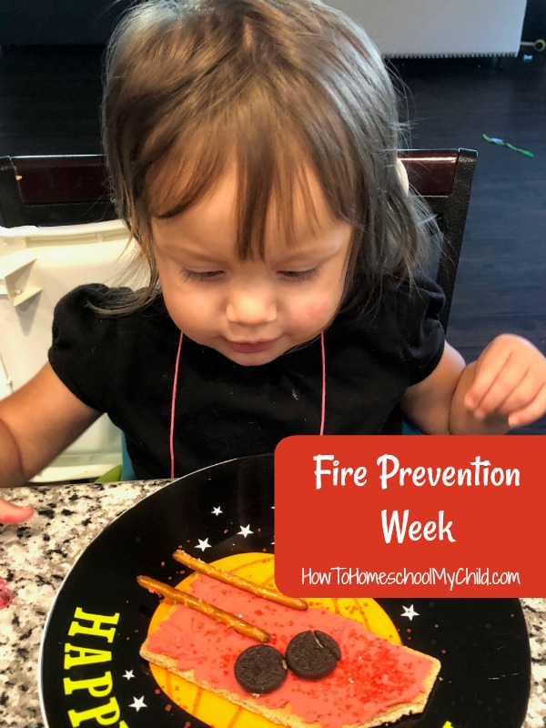 Fun fire prevention week activities for kids...that you can eat