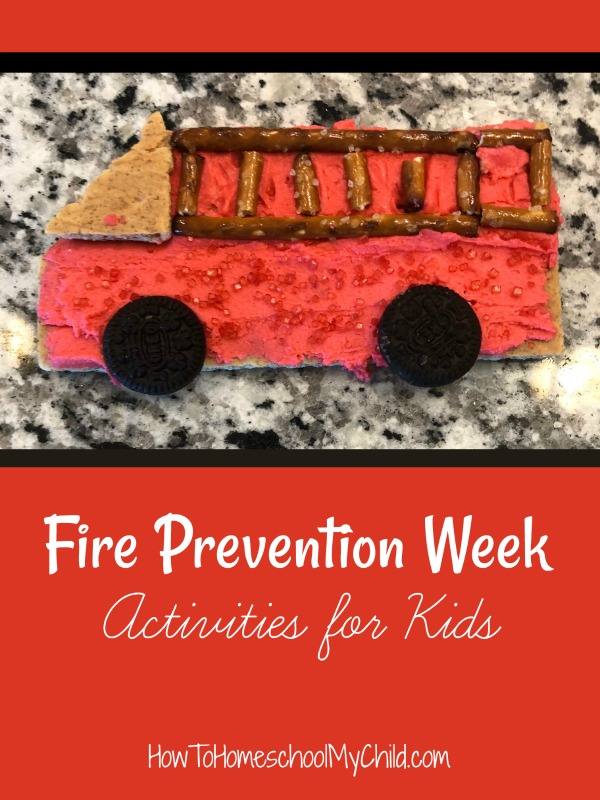 Fire Prevention Week activities for kids ...and eat them too ... part of fall activities for preschoolers & families