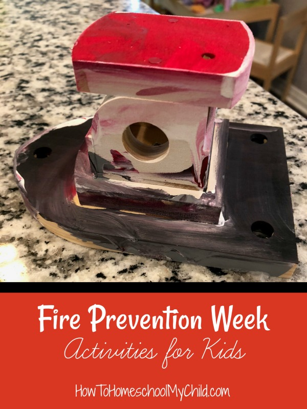 Fun fire prevention week activities for kids