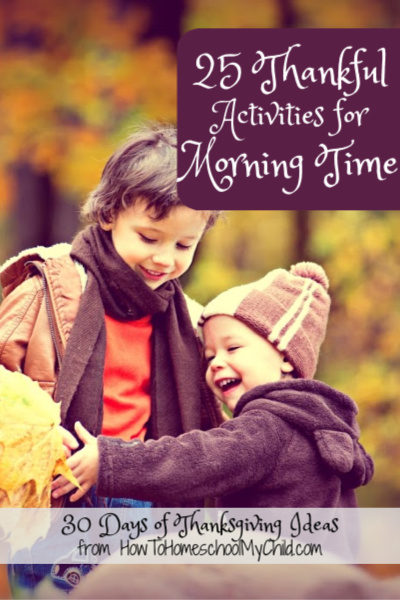 thankful activities with kids - thanksgiving ideas