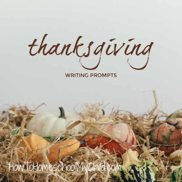 19 Thanksgiving Writing Prompts - free printables