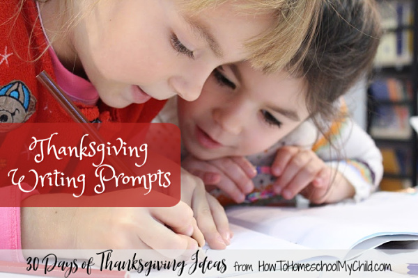 Thanksgiving Writing Prompts and free printables for your kids in homeschooling