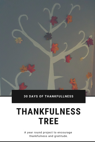 How to make a thankfulness tree to use year round