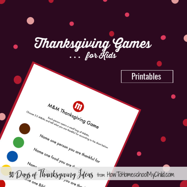Thanksgiving games for kids & activities for kids around the table