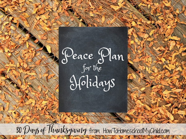 5 steps to having a peace plan for the holidays - Thanksgiving & Christmas