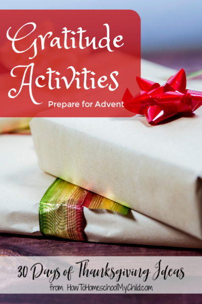 Gratitude Activities to prepare for Advent