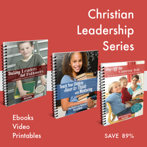 Save 91% on our Christian Leadership Series for homeschool moms