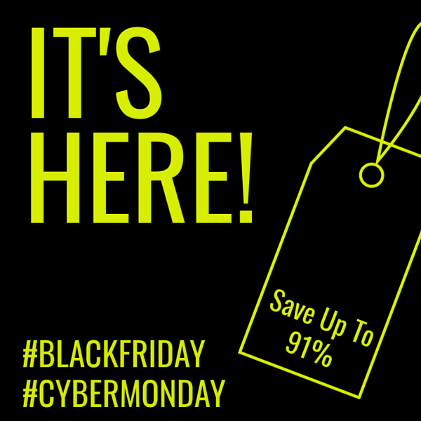 Pre-Cyber Monday Sale - Save up to 91%