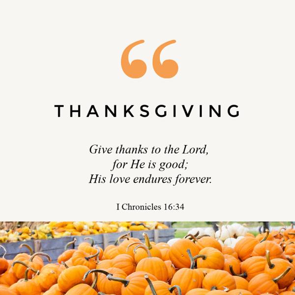 Thanksgiving Bible verse to encourage you