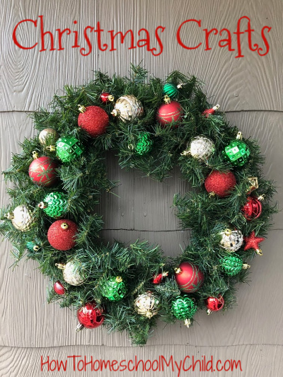 Christmas crafts wreath