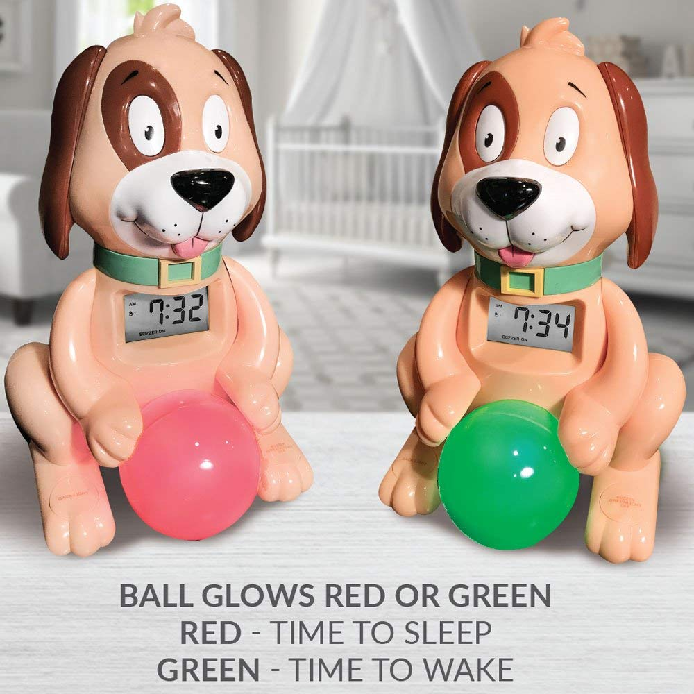 Red light - Green light Dog Clock for Napping & Sleeping