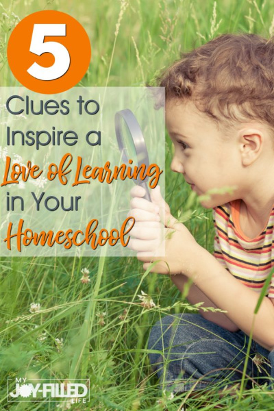 5 Clues to Inspire a Love of Learning in your Homeschool