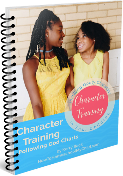 Character Training Charts - Following God