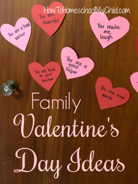 Fun Family Valentines Day Ideas - add a heart each day