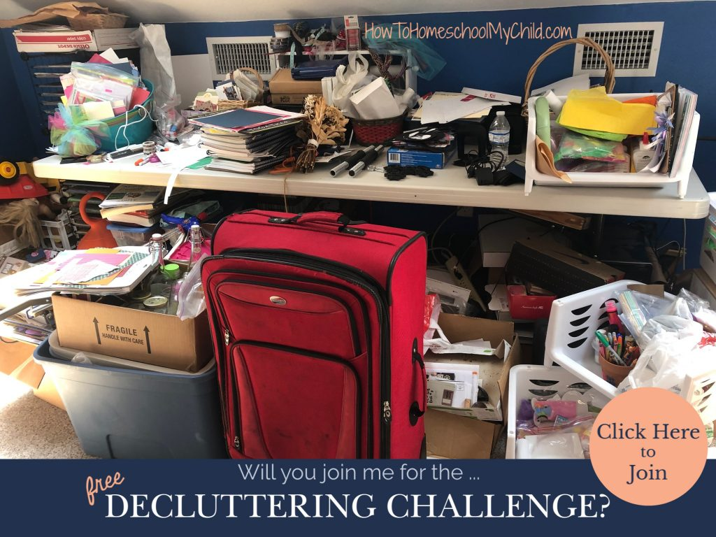Decluttering Challenge - 7 day free declutter challenge - take it with me