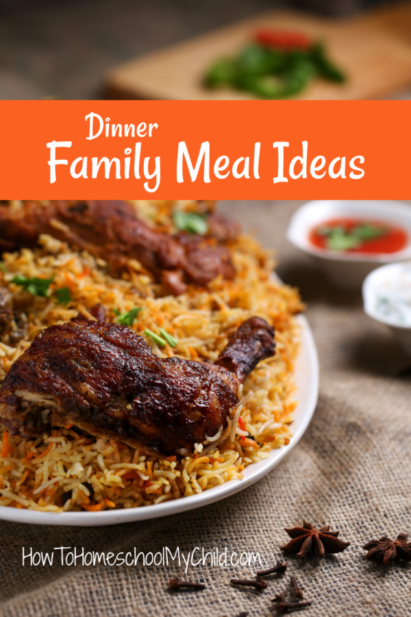 Dinner Family Meal Ideas from our Recipe Book