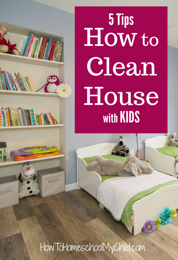 How to Clean House with Kids