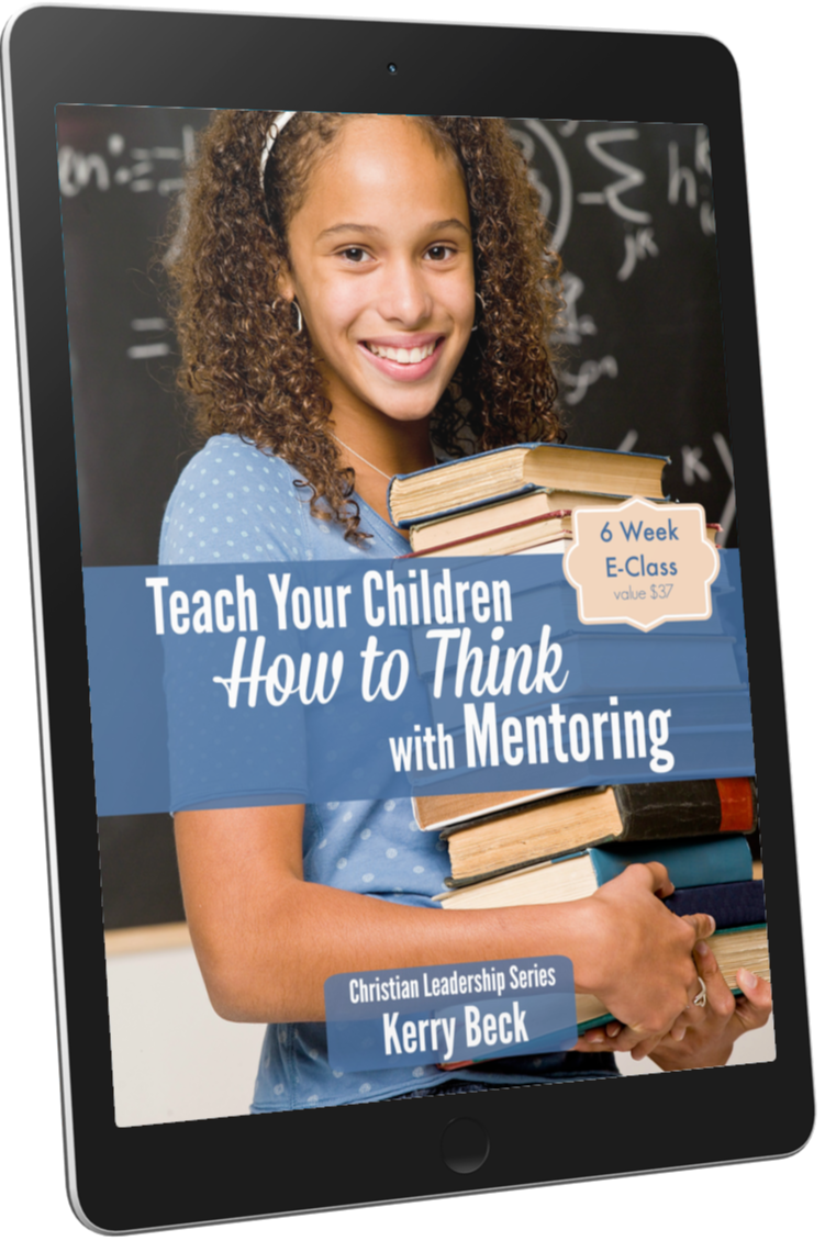 teach your children how to think with mentoring