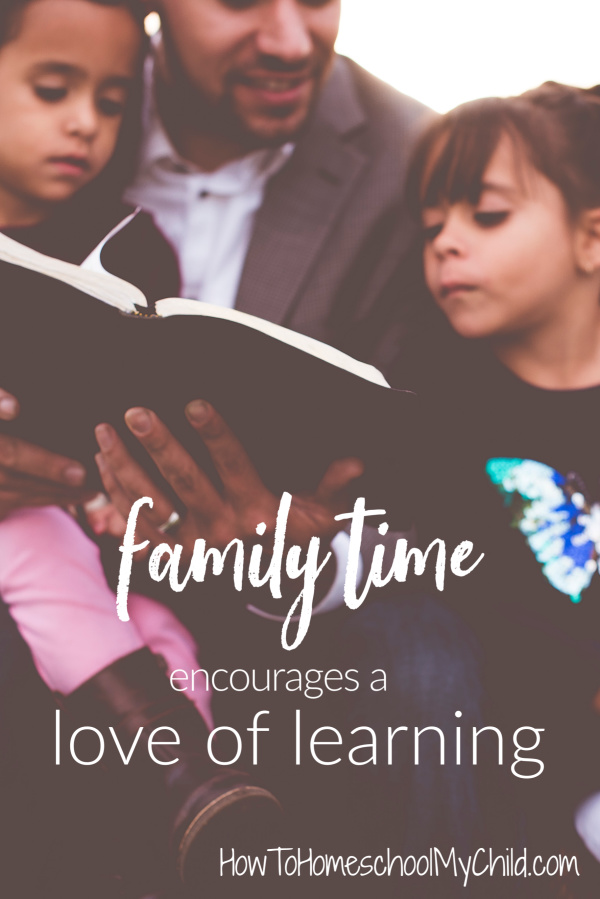 Family Time enourages love of learning