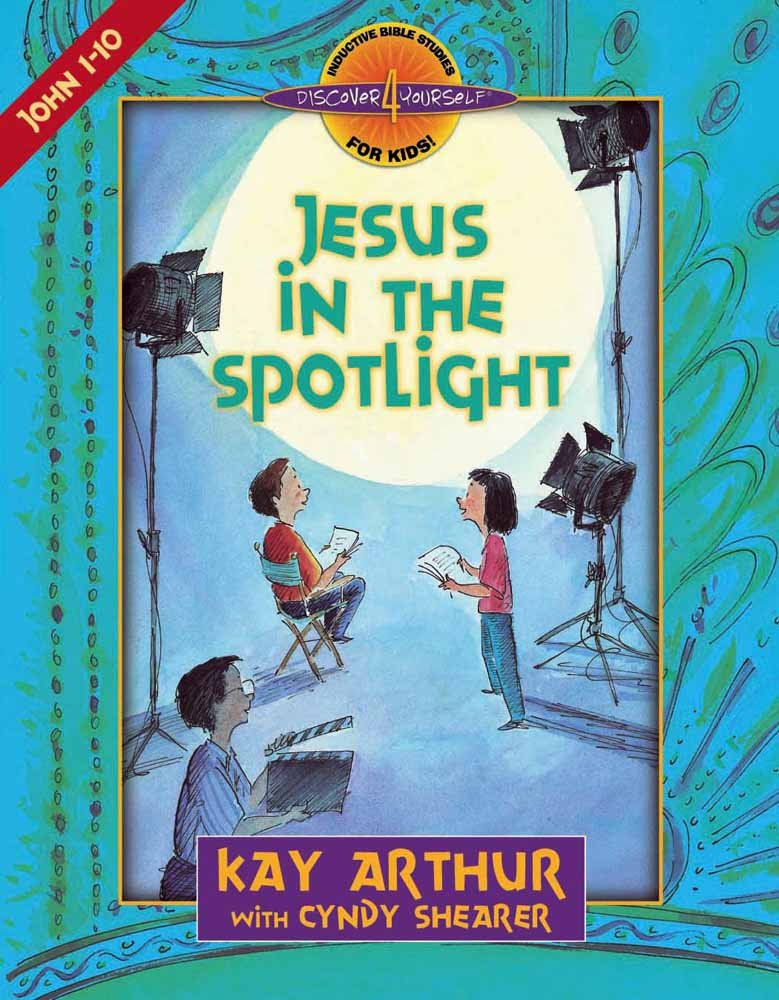 Inductive Bible Study for Kids - Jesus in the Spotlight is easy way to study the Bible with kids.