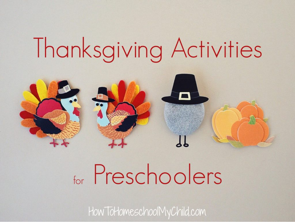 Thanksgiving Activities for Preschoolers