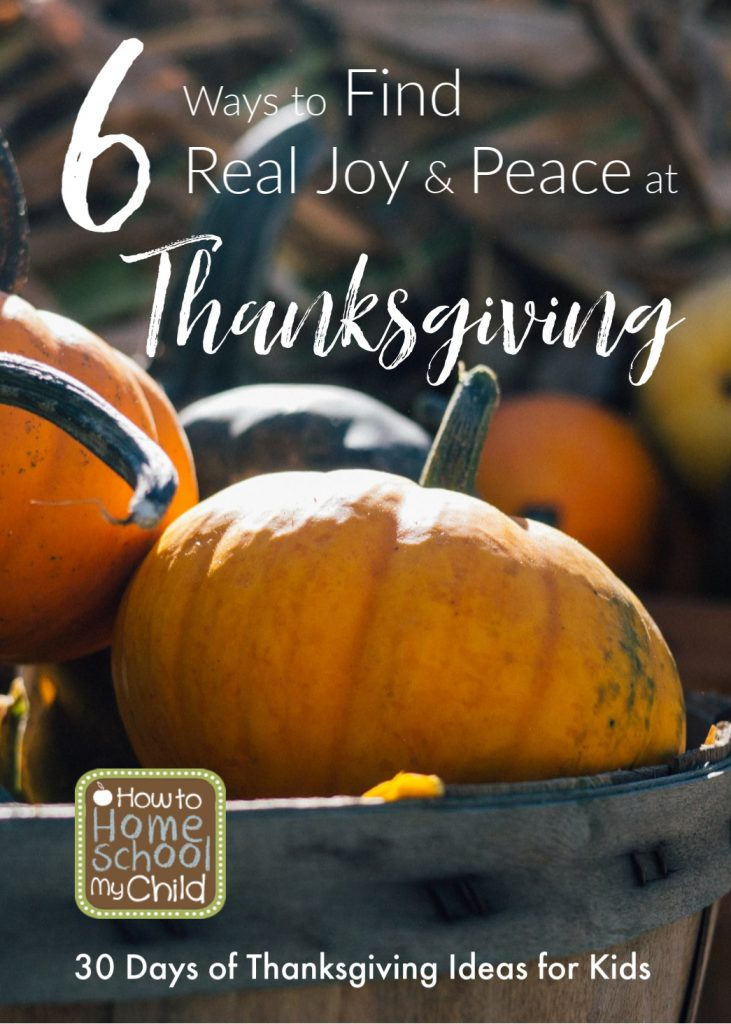 find real joy & peace at thanksgiving