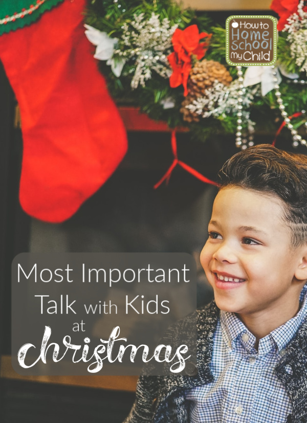 talk with kids at Christmas