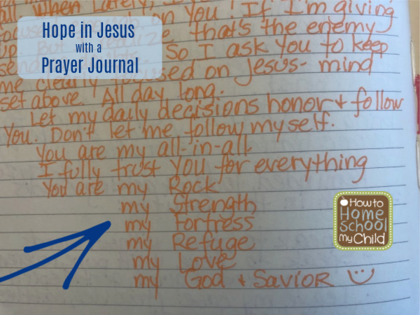 Hope in Jesus with a prayer journal