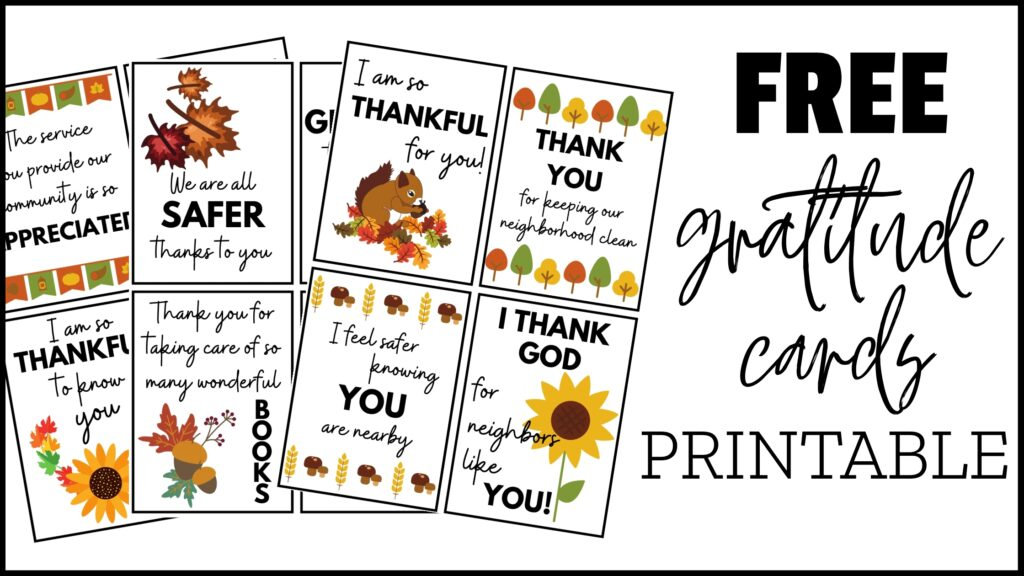 expressing thanks with gratitude cards