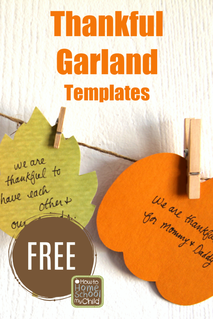 thankful garland templates